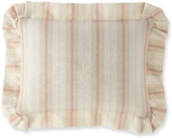 Abloom Striped Boudoir Pillow