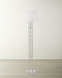 Floor Lamp with Frosted Glass Swirls