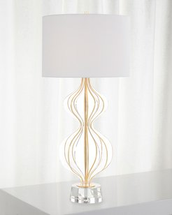 Acrylic Table Lamp with Gold Leaf