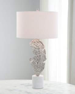 Sculpted Leaf Table Lamp