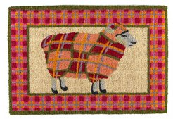 Tartan Sheep Entrance Mat