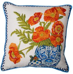 Ming Poppies Pillow