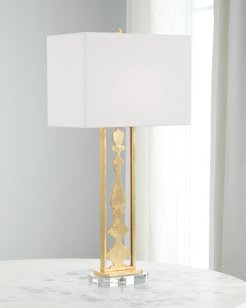 Puzzle Acrylic Table Lamp in Gold Leaf