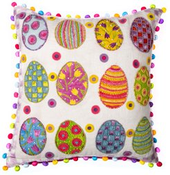 Painted Egg Pillow