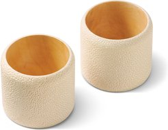 Shagreen Napkin Rings, Set of 2