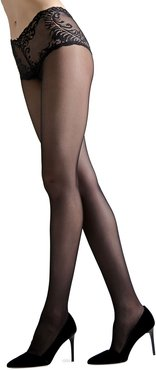 Feathers Lace-Top Tights