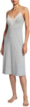 Ryleigh Lace-Trim Jersey Nightgown