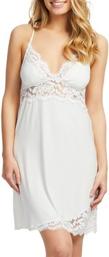 Supportive Lace-Trim Racerback Chemise