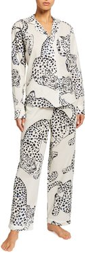 Large Leopard Long-Sleeve Pajama Set