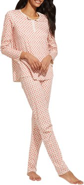 Quilted Hearts Cotton Pajama Set