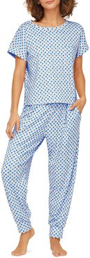 Quilted Hearts Short-Sleeve Pajama Set