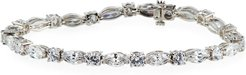 Mixed-Cut Cubic Zirconia Tennis Bracelet