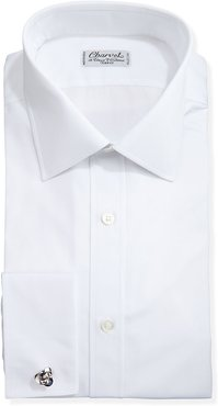 Solid Poplin French-Cuff Shirt