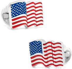 Waving American Flag Cuff Links