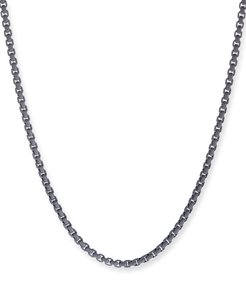 Acrylic-Coated Stainless Steel Box Chain, Gray, 24""