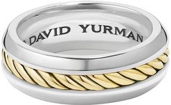 Cable Classic Band Ring w/ 18k Gold, Size 12