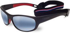 Active Cup Wrap Nylon Sunglasses with Removable Strap