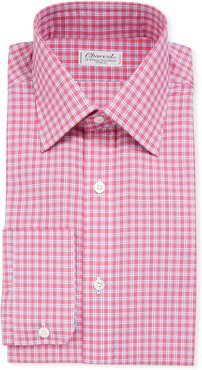Long-Sleeve Tattersall Dress Shirt