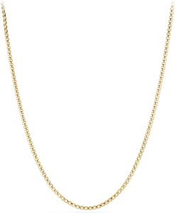 Medium Box Chain Necklace in 18k Gold, 26""