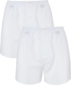 2-Pack Tagless Cotton Boxers, White