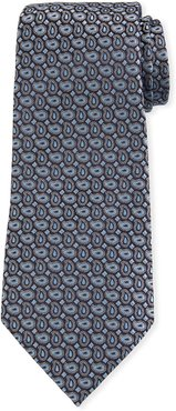 Connected Pines Silk Tie, Light Blue