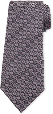 Connected Pines Silk Tie, Pink