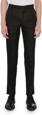 Wool-Blend Scritto Jacquard Tapered Pants