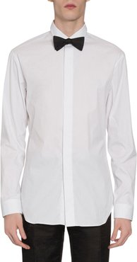 Covered-Placket Sport Shirt