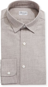 Brushed Cotton/Wool Dress Shirt