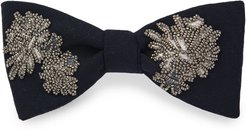 Beaded Floral Bow Tie