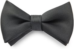 Oversized Solid Textured Bow Tie