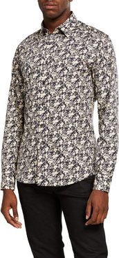 Floral Cotton Sport Shirt