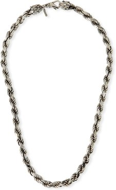 French Rope Chain Necklace, Silver
