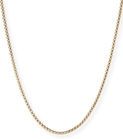 """18k Yellow Gold Box Chain Necklace, 26"""""""