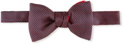 Caviar Silk Bow Tie, Rose