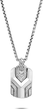Asli Classic Chain Link Pendant Necklace w/ Diamond Pave