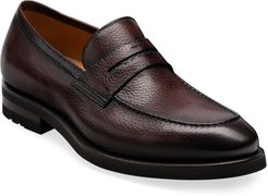Matlin II Pebbled Leather Penny Loafers