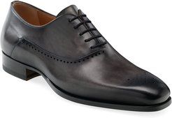 Shepard Brogue Burnished Leather Oxford Shoes