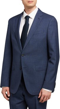 Micro-Pattern Slim-Fit Two-Piece Suit