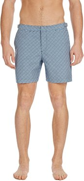 Bulldog Coronado Geo-Print Swim Trunks