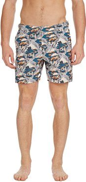 Bulldog Summer Scenes Swim Trunks