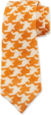 Exploded Houndstooth Linen Tie