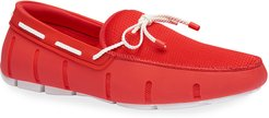 Braided-Lace Mesh/Rubber Driver Loafers
