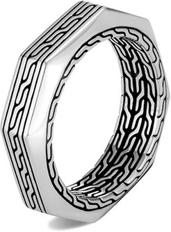 Classic Chain Silver Band Ring, Size 9-10