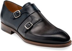 Maurici Double-Monk Leather Loafers