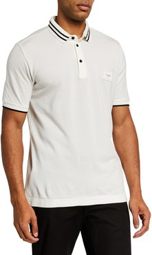 Basic Polo Shirt with Plaque