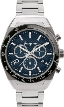 43mm Chronograph Stainless Steel Bracelet Watch