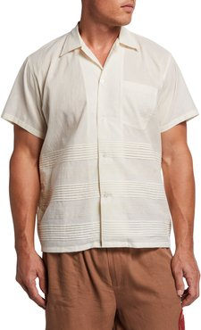 Flat Pleated Bowling Shirt