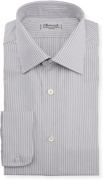 Striped Melange Dress Shirt