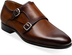Lisbon Double-Monk Leather Loafers